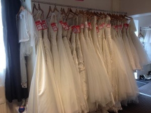 Reduced Wedding Gown Samples
